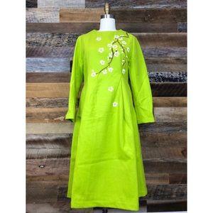 Dresses & Skirts - Stylish lime green wool blend dress
